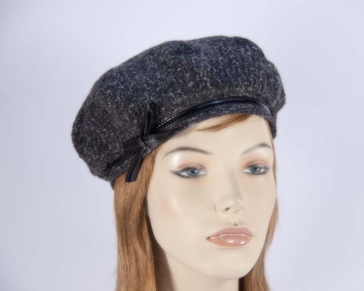 Grey winter ladies fashion beret hat Max Alexander J250G