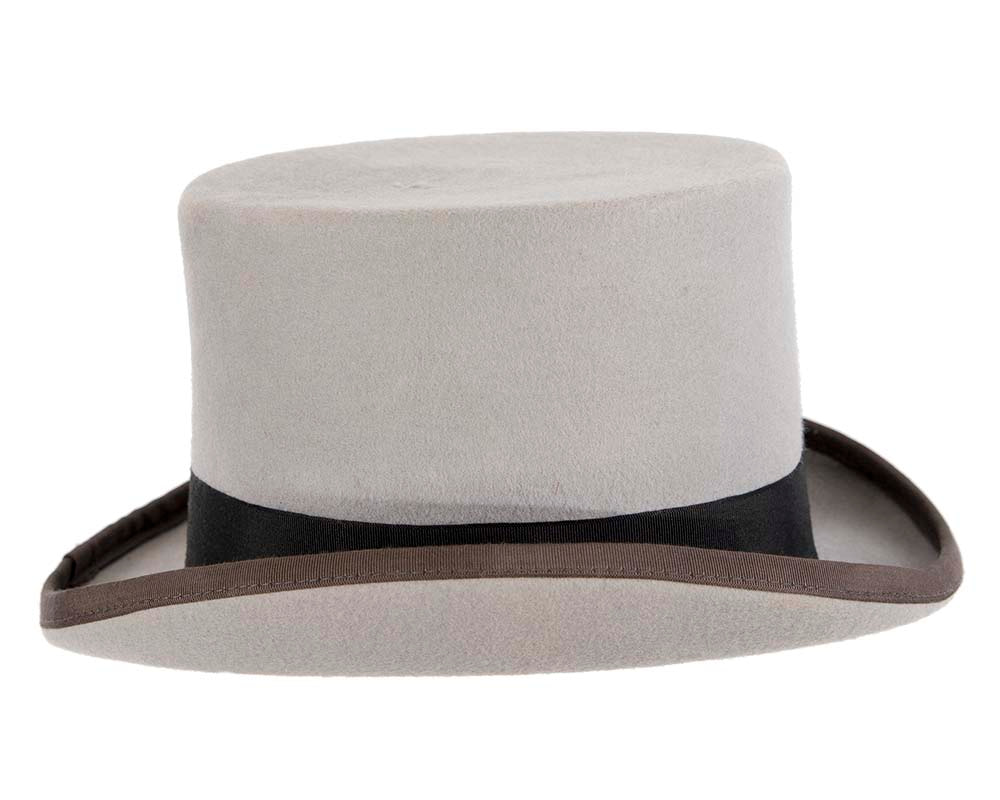 Grey felt top hat by Christy's London