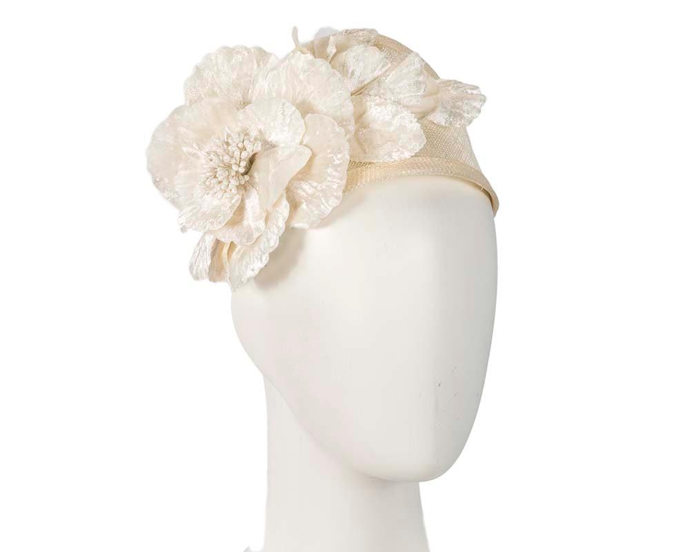Wide cream flower headband fascinator by Max Alexander