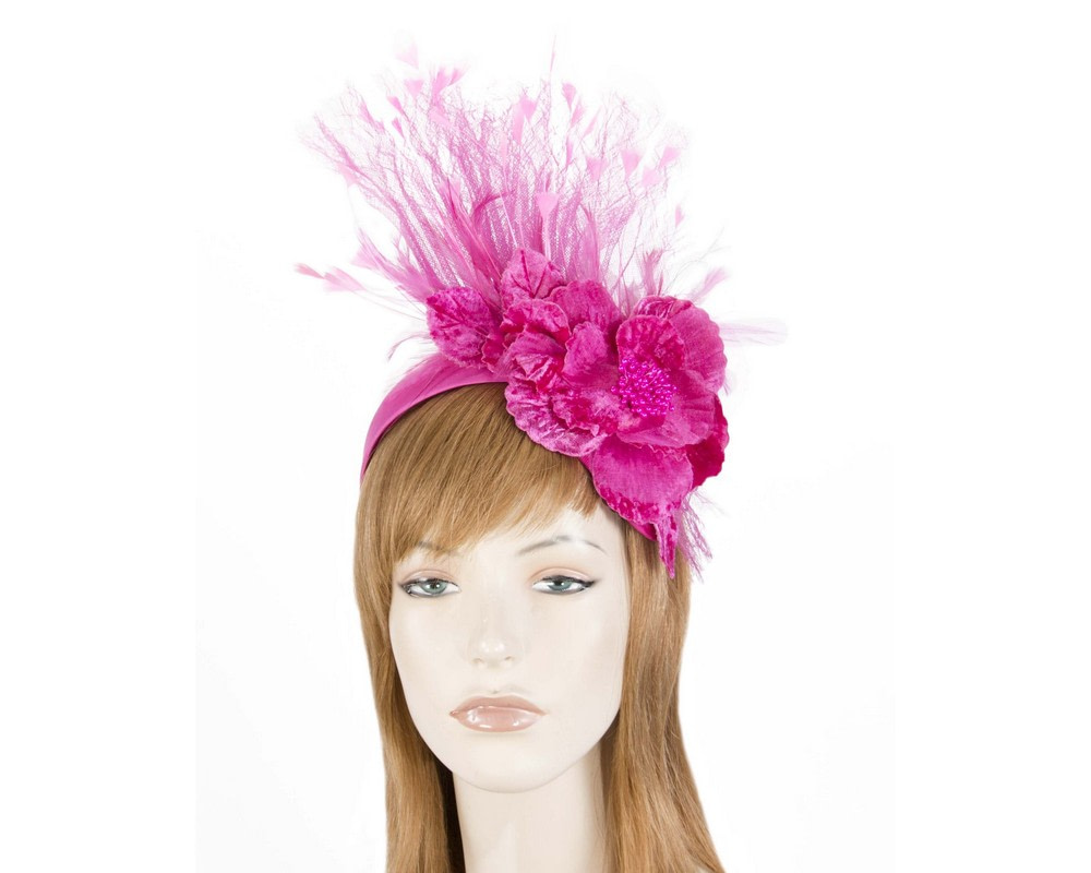 Fuchsia designers flower fascinator