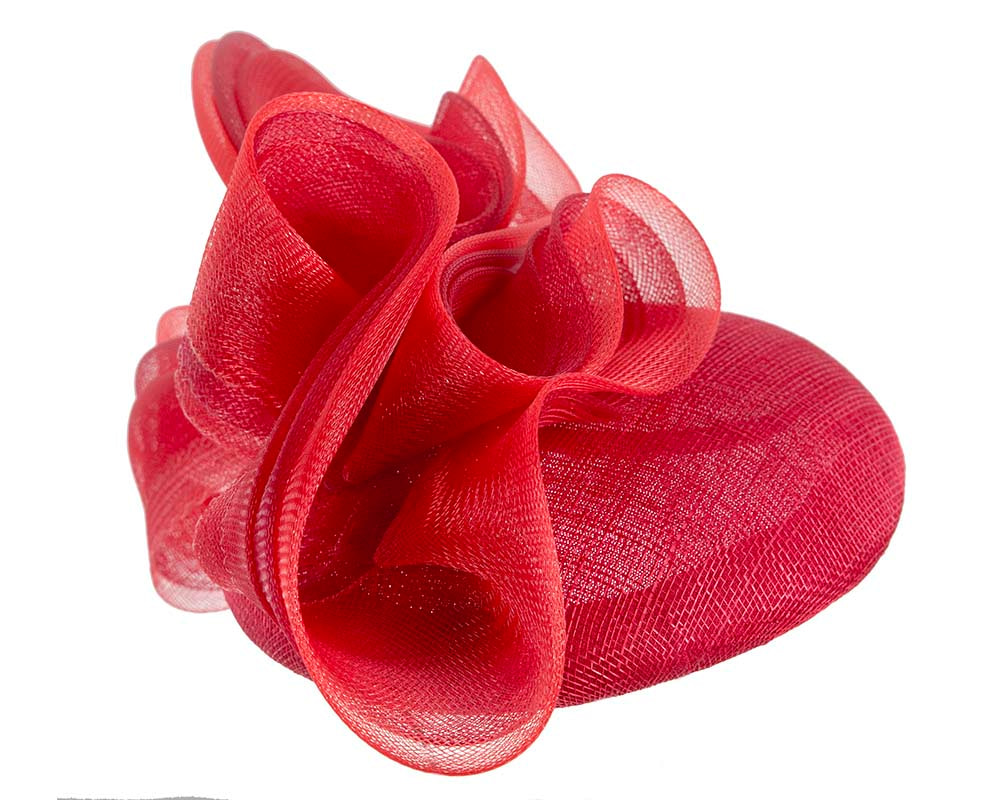 Designers red pillbox fascinator by Fillies Collection