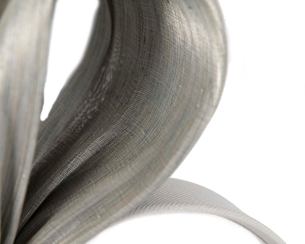 Exclusive silver silk abaca bow by Fillies Collection