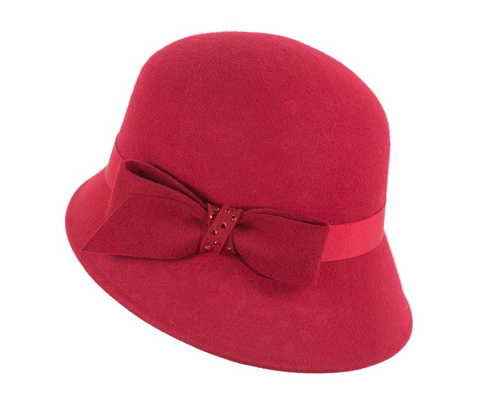 Ladies winter felt bucket hat by Cupids Millinery Melbourne