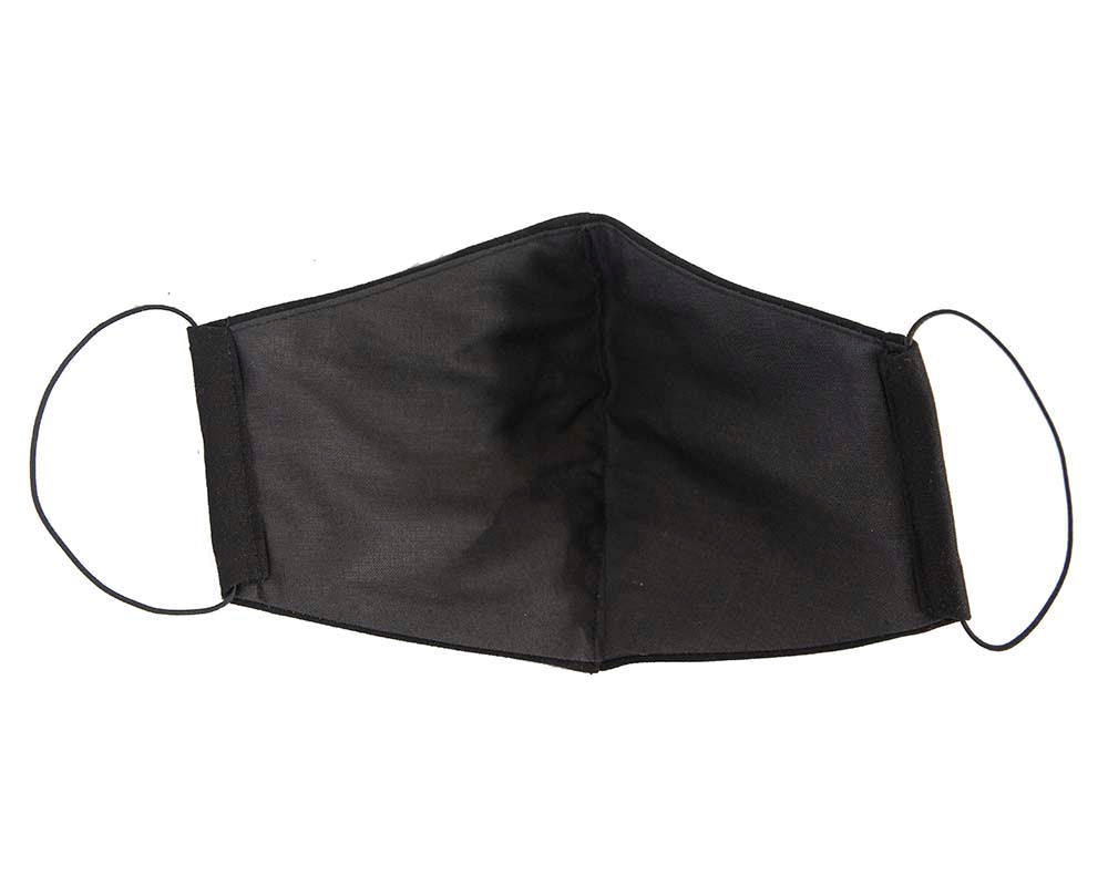 Comfortable re-usable face mask black cotton