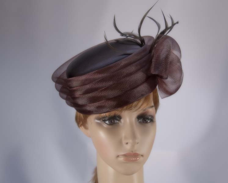 Mother of the Bride pillbox hat custom made to order