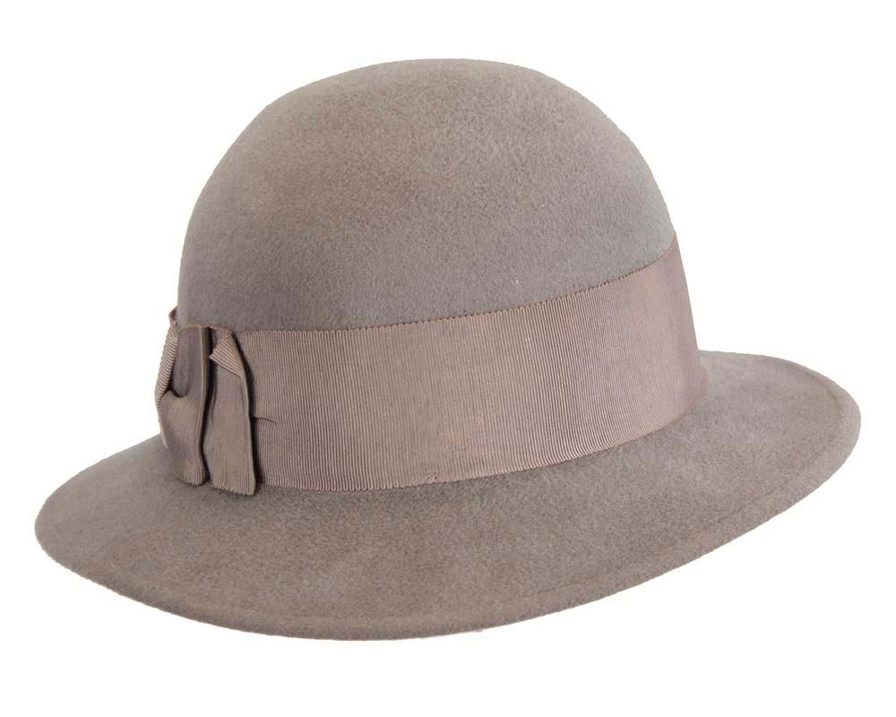 Exclusive grey rabbit fur hat