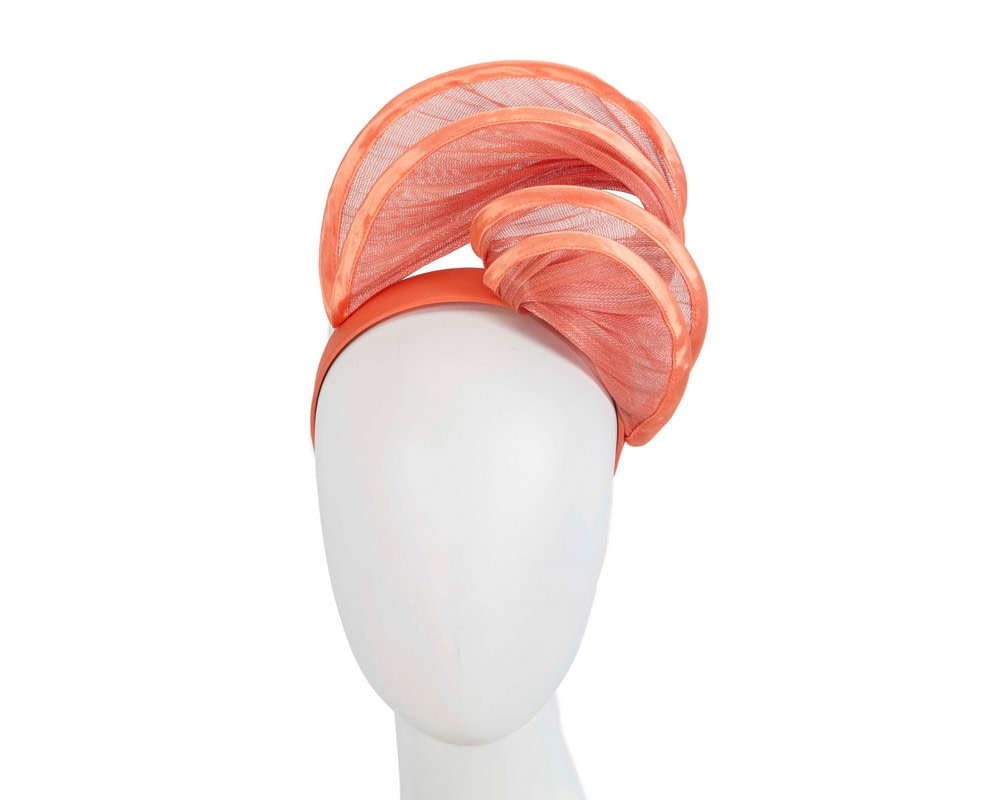 Orange headband racing fascinator by Fillies Collection