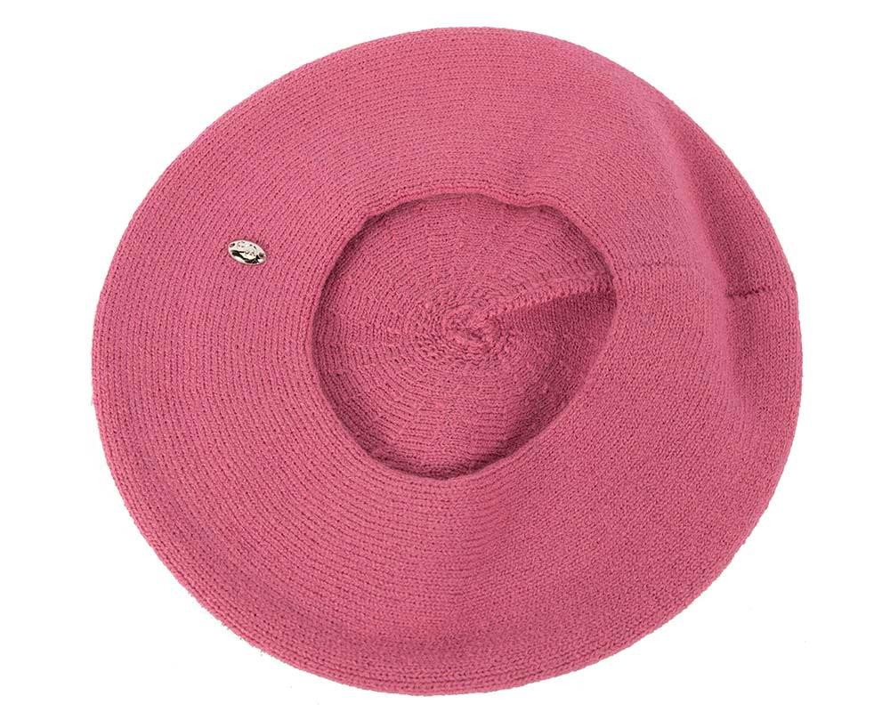 Classic woven fuchsia beret by Max Alexander