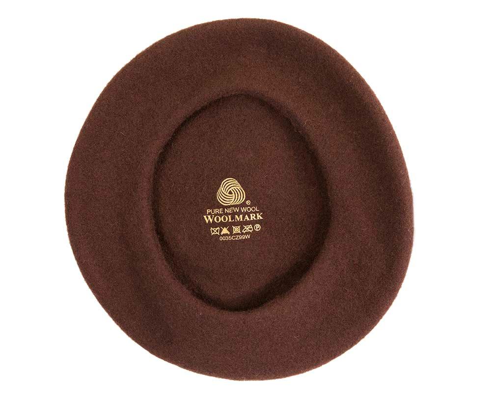 Brown wool WOOLMARK french beret