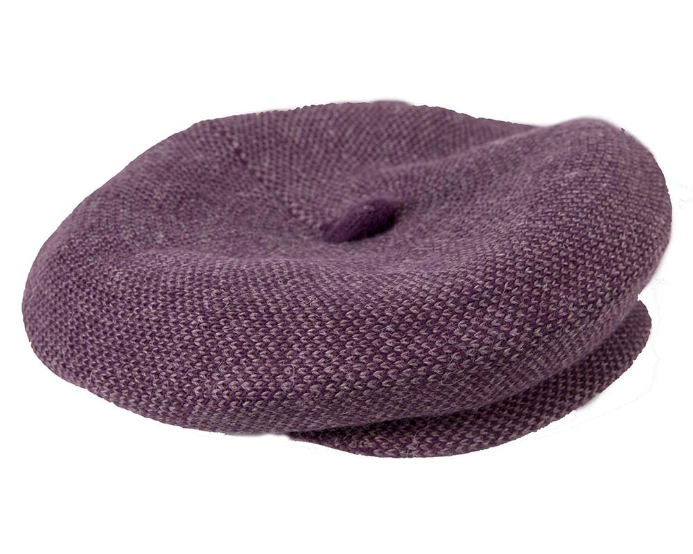 Classic wool woven purple cap by Max Alexander