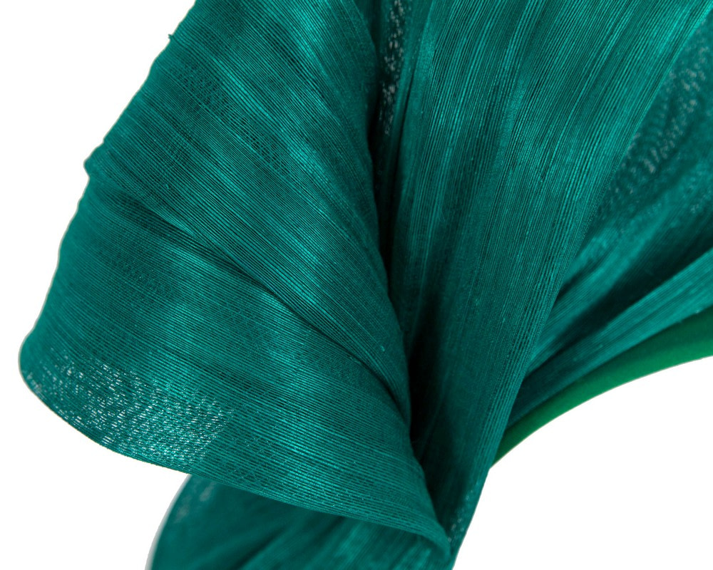 Exclusive teal silk abaca bow by Fillies Collection