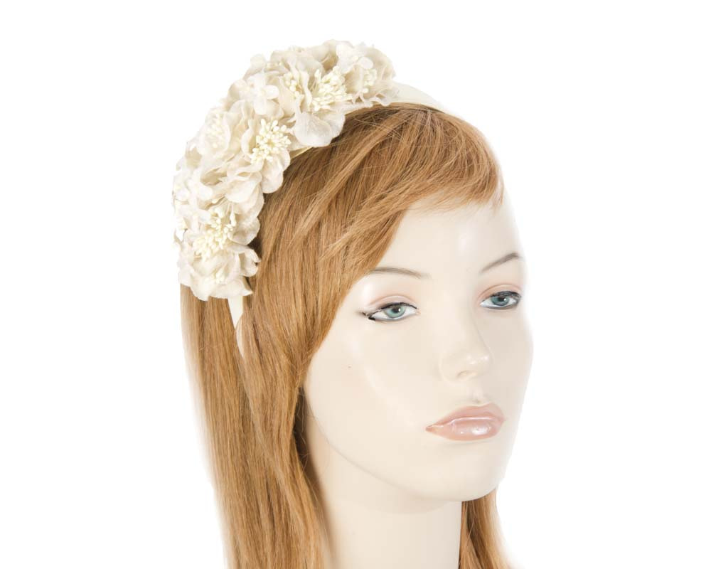 Cream flower headband racing fascinator