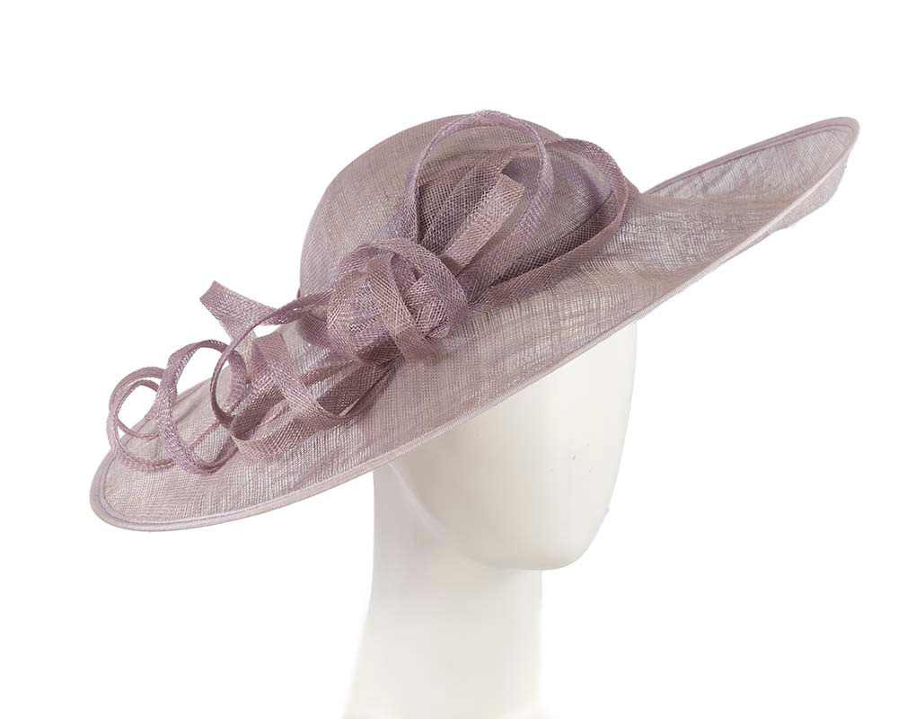 Large lilac racing hat by Cupids Millinery Melbourne