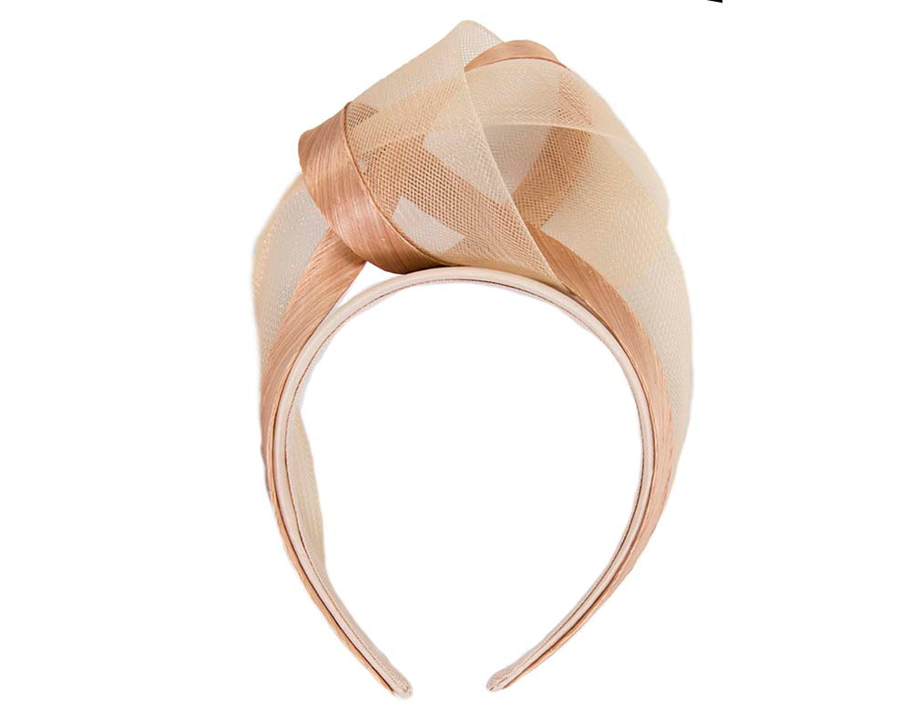 Nude fashion headband turban by Fillies Collection