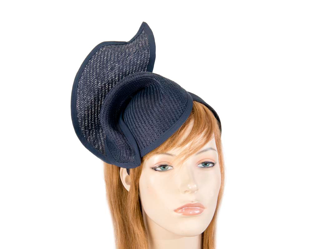 Navy fashion pillbox fascinator hat for races Max Alexander