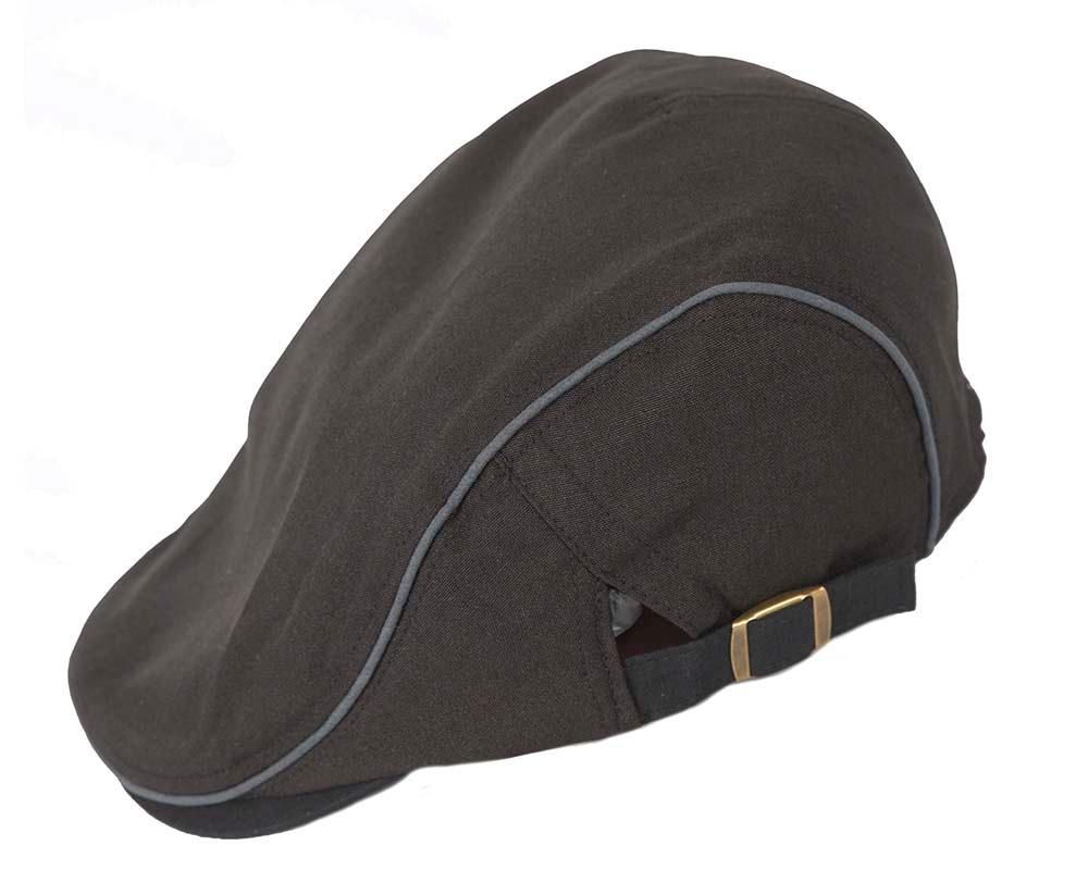 Soft black flat cap by Max Alexander