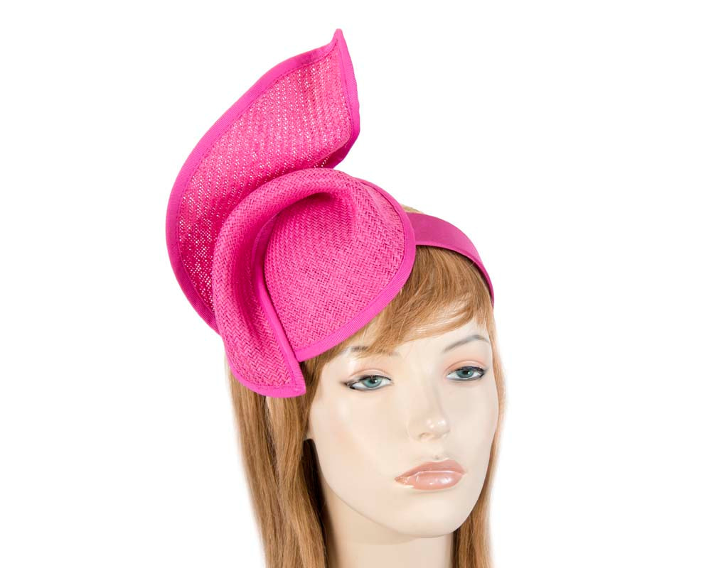 Fuchsia fashion pillbox fascinator hat for races Max Alexander MA564F