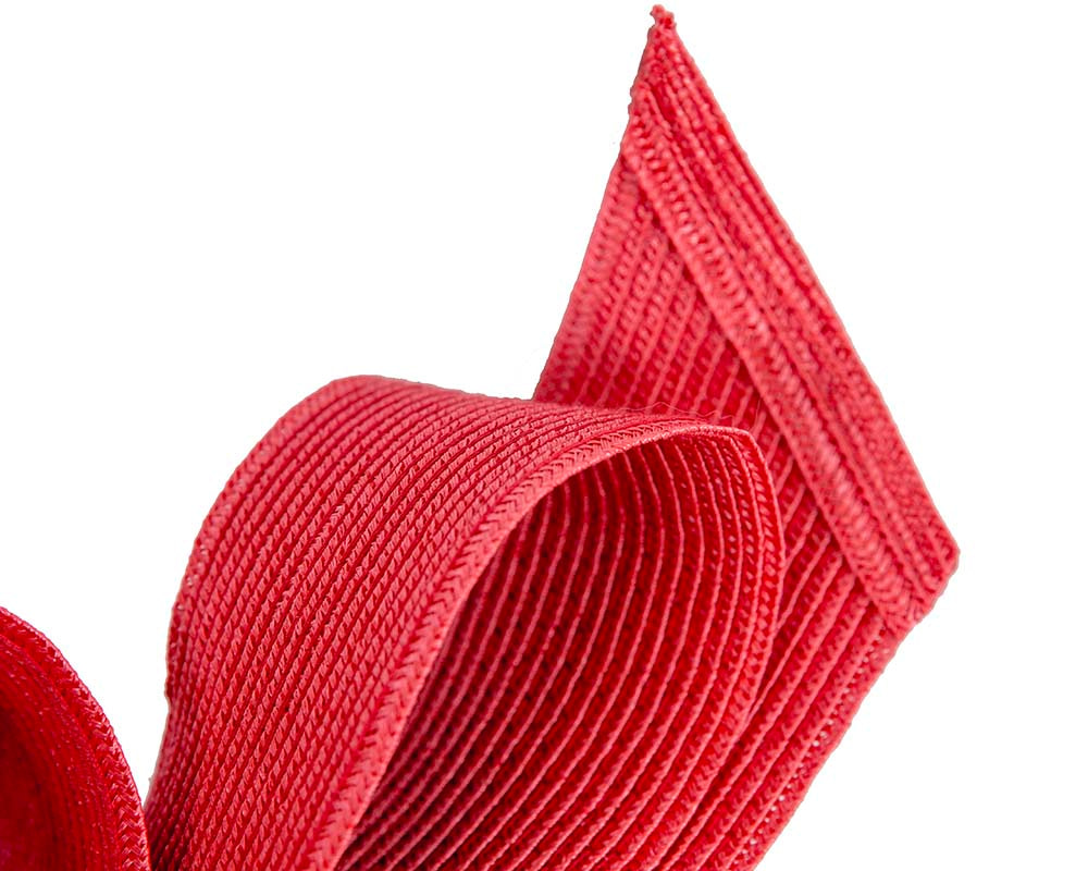 Large red bow racing fascinator by Max Alexander