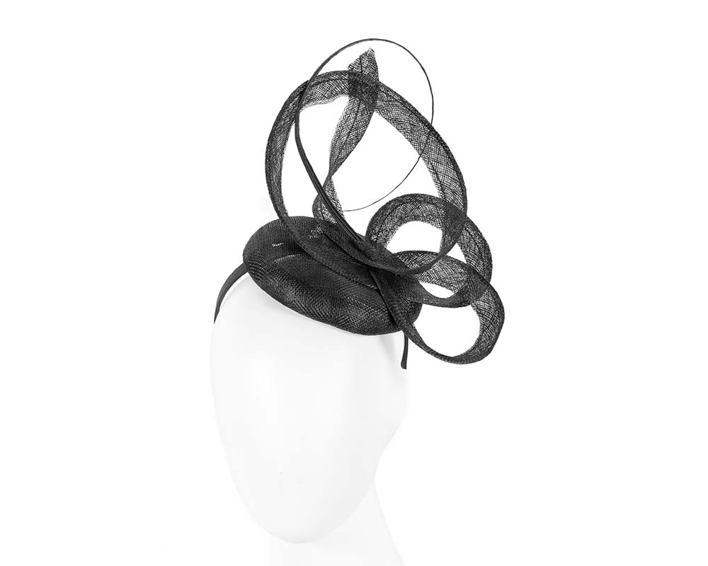 Edgy black fascinator