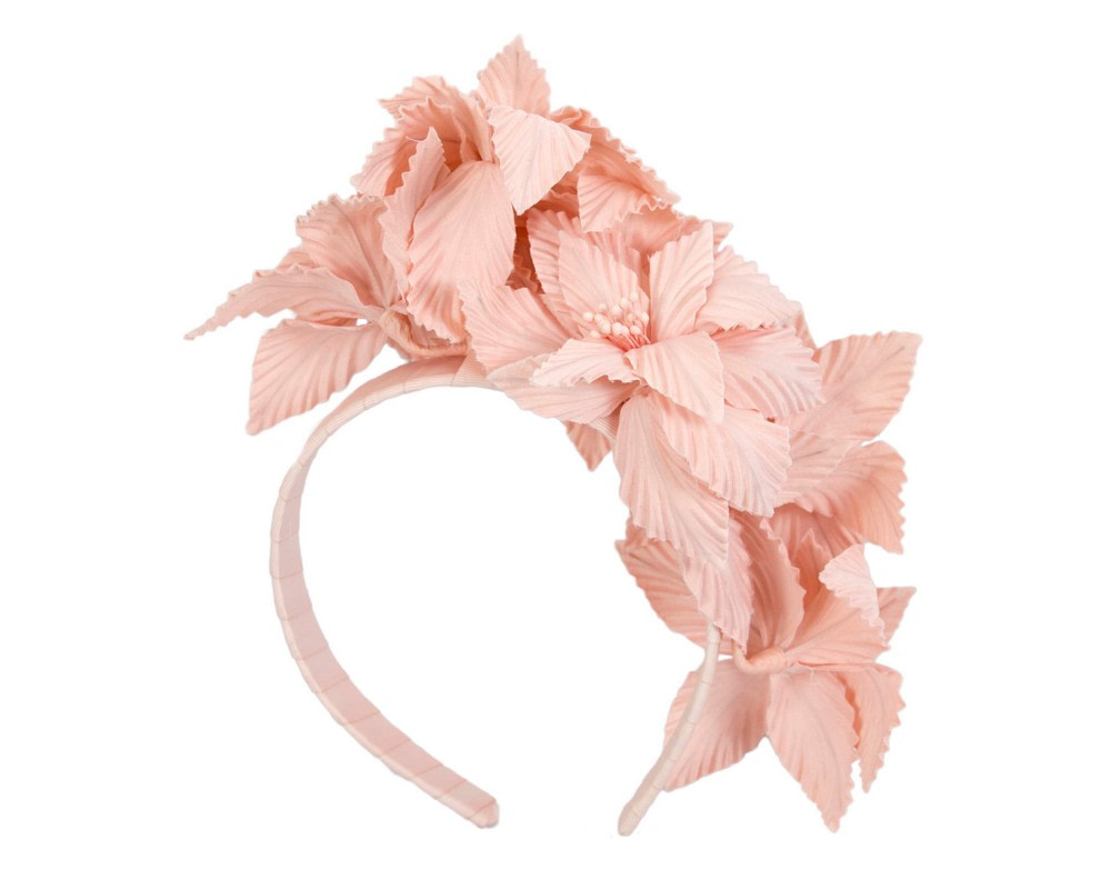 Blush sculptured flower headband fascinator by Fillies Collection