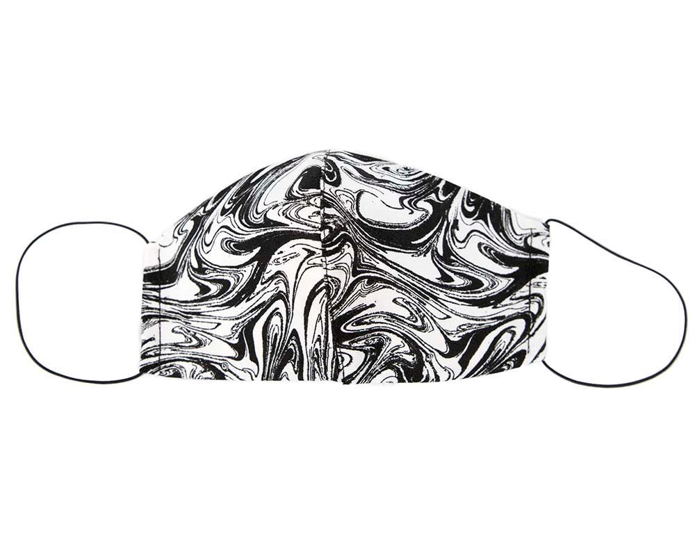 Comfortable re-usable black & white cotton face mask