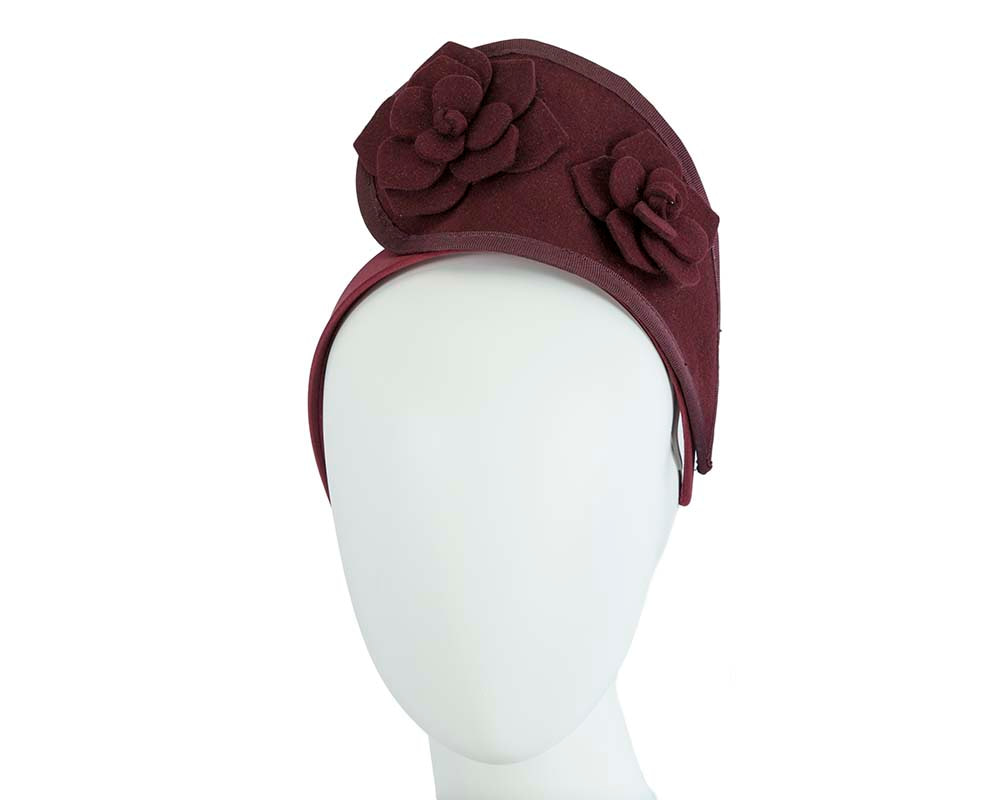 Wine tall winter racing crown fascinator