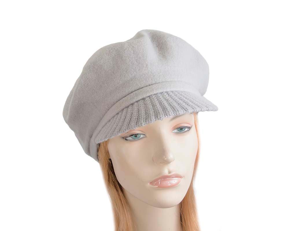 Warm grey winter newsboy cap by Max Alexander