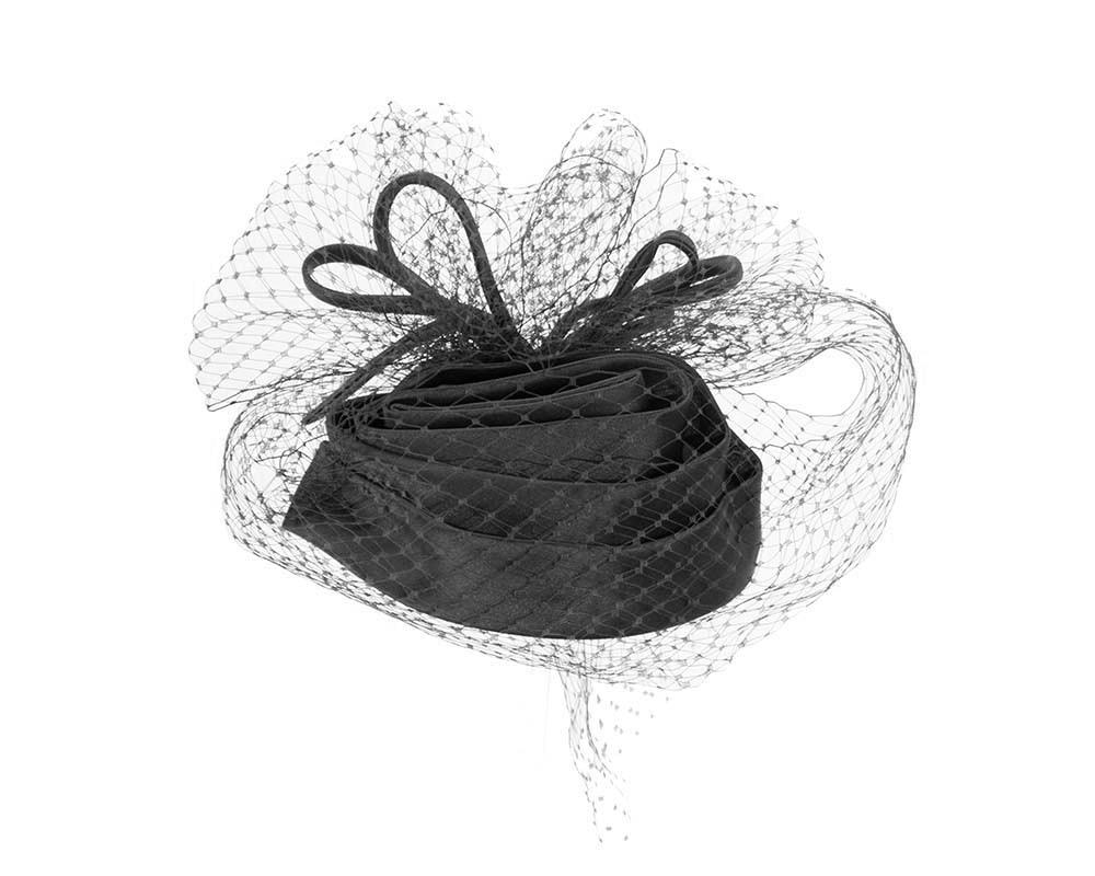 Black Cocktail Headpiece with veil