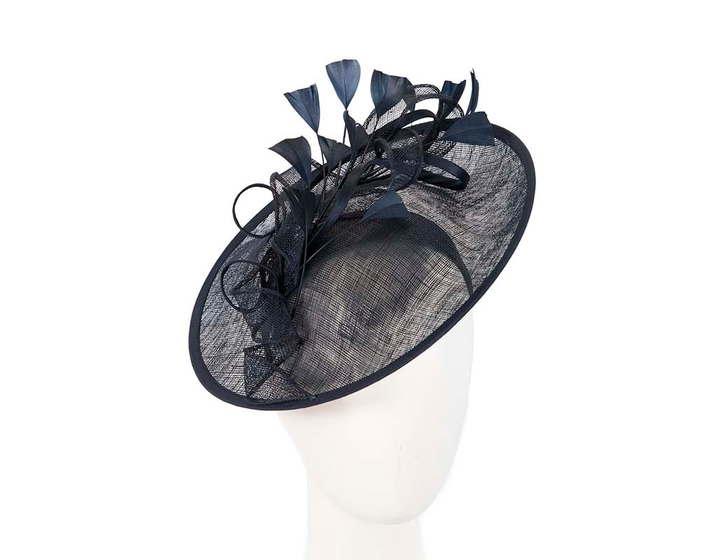 Exclusive navy fascinator by Cupids Millinery Melbourne