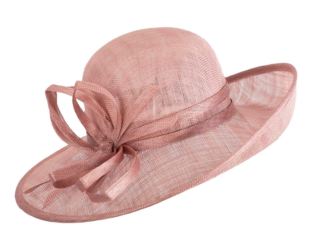 Dusty pink fashion racing hat by Max Alexander