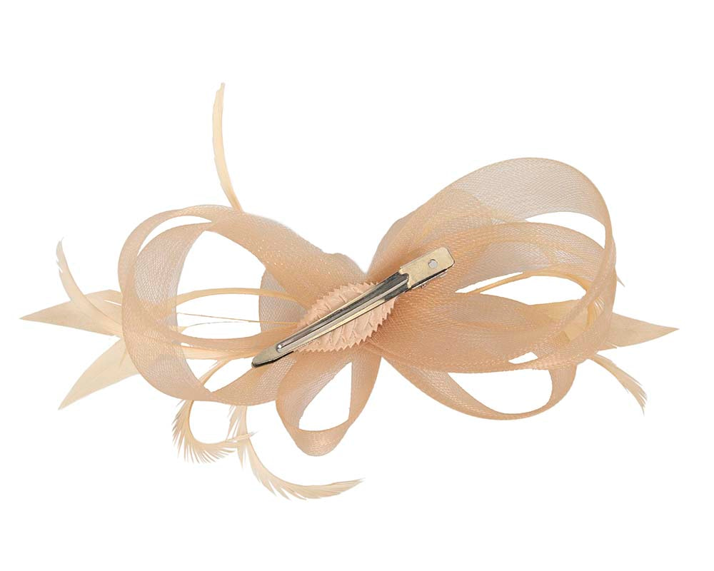 Custom made gold fascinator by Cupids Millinery