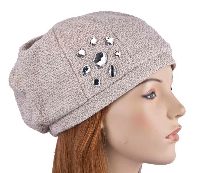 Grey ladies Casual Beret Hat Max Alexander J153G