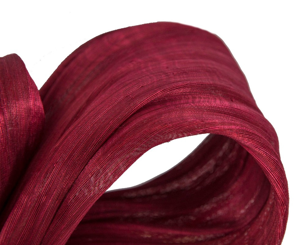 Exclusive burgundy wine silk abaca bow by Fillies Collection