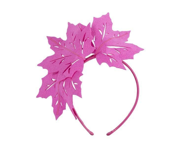 Fuchsia laser cut maple leafs on headband