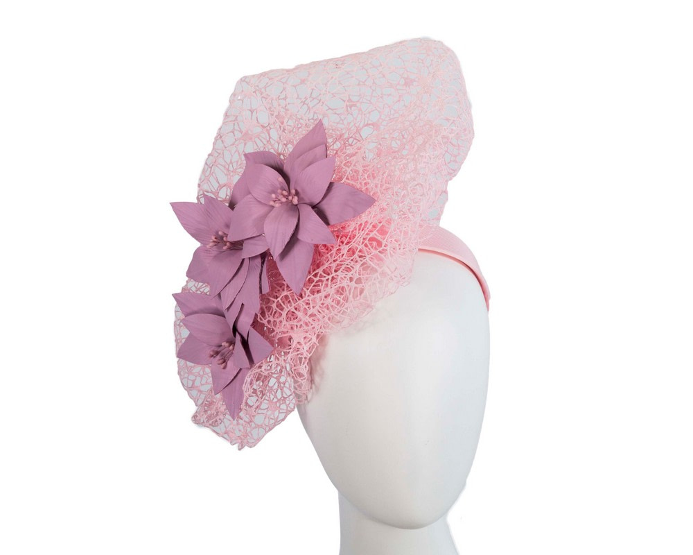 Staggering pink racing fascinator by Fillies Collection