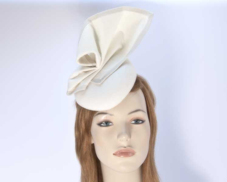 Cream pillbox hat for winter autumn racing — buy online in Australia F540C