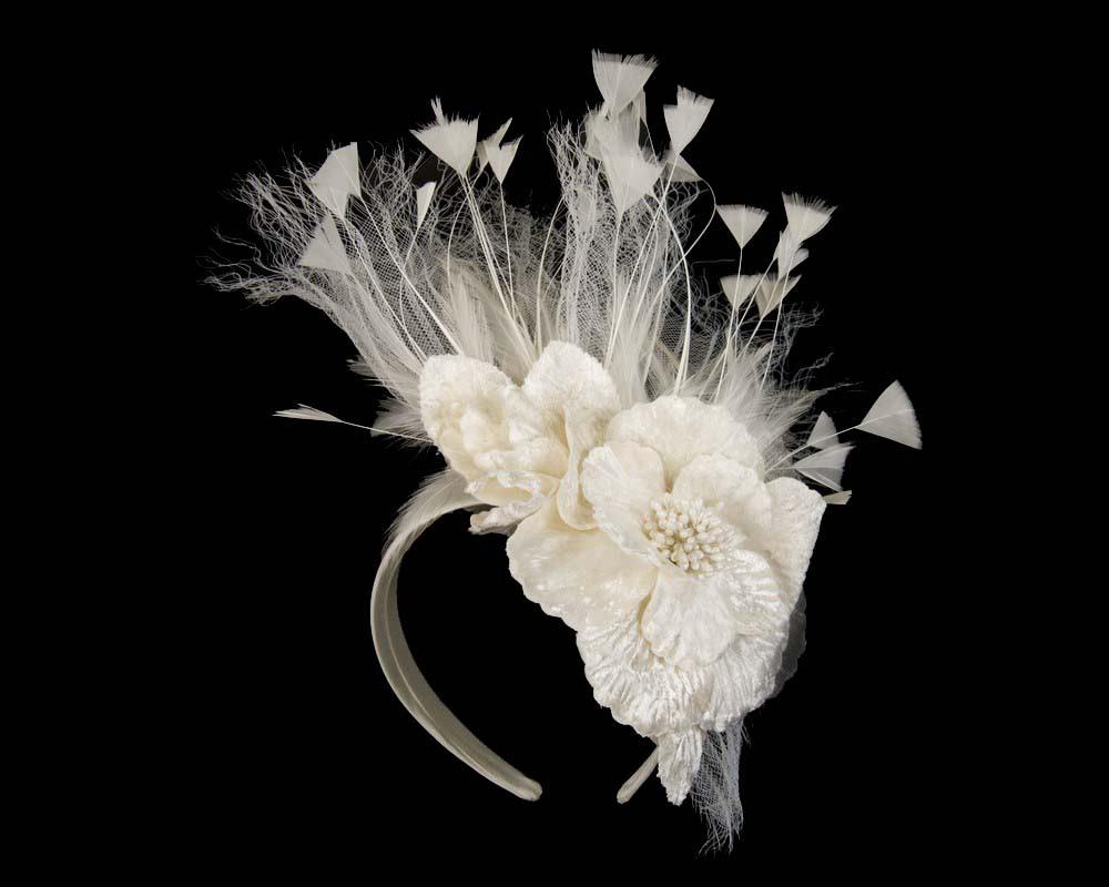 Cream designers flower fascinator