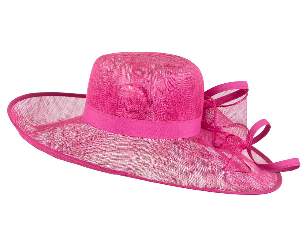 Large Fuchsia Ladies Fashion Racing Hat by Cupids Millinery