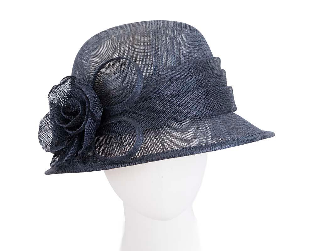 Navy Ladies Bucket Racing Hat for Ascot