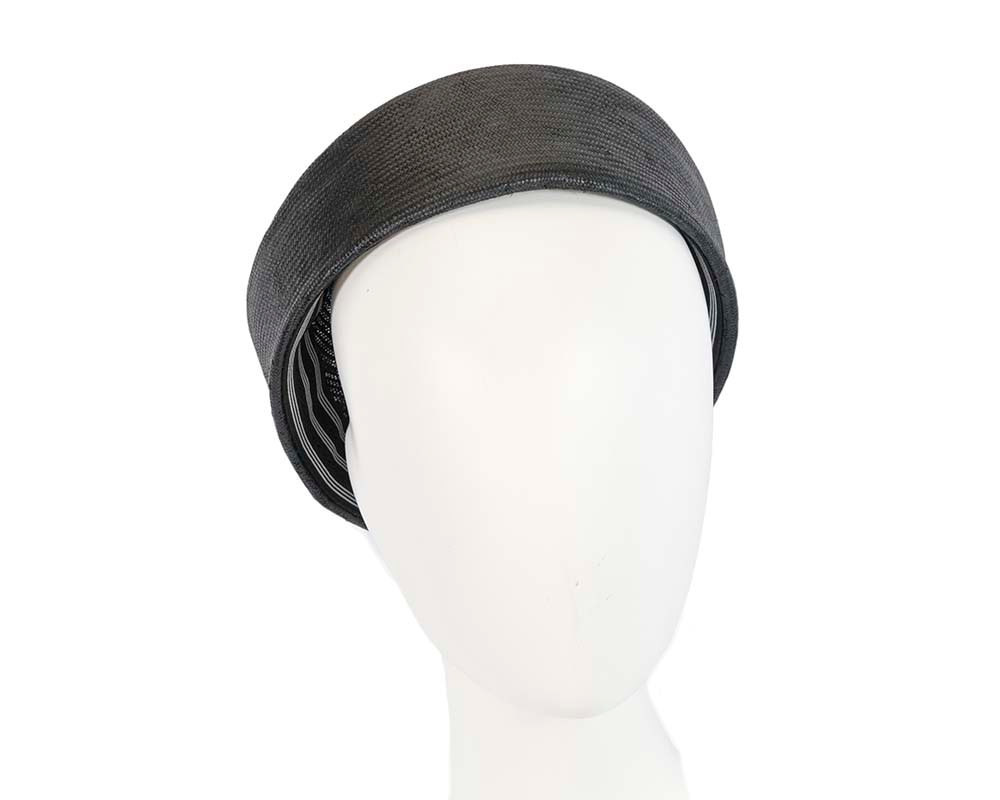 Black Jackie Onassis beret hat by Cupids Millinery