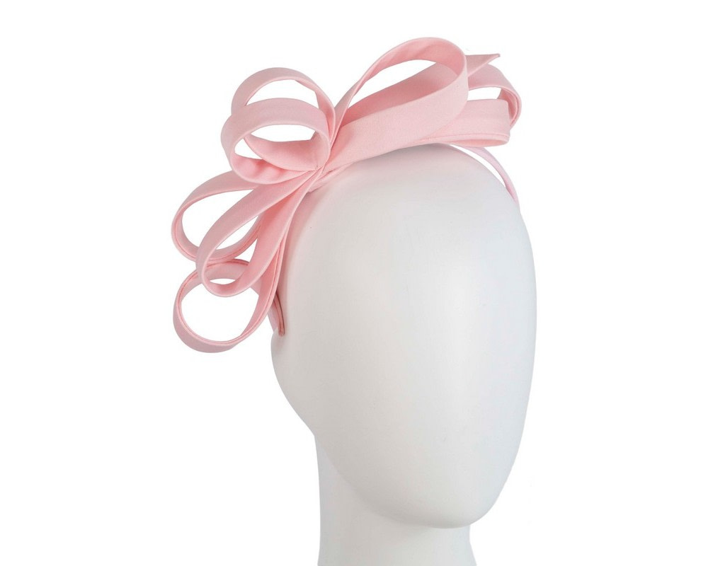 Pink bow racing fascinator by Max Alexander