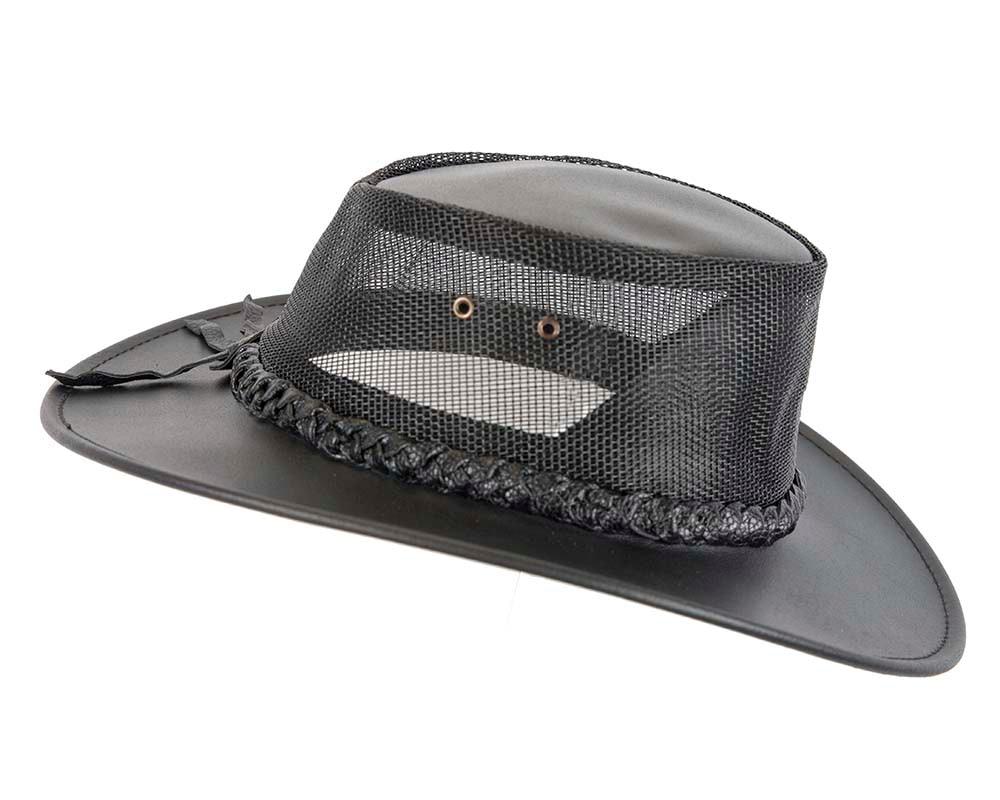 Black Australian Bovine Leather Cooler Jacaru Hat