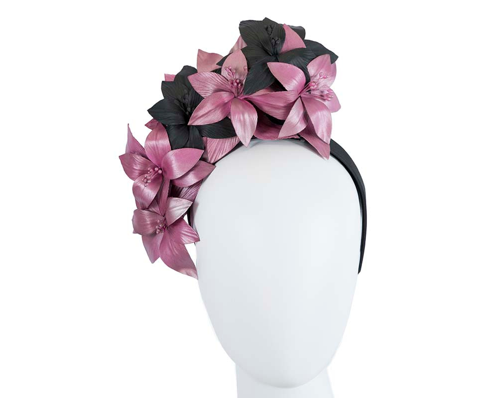 Exclusive tall flower crown fascinator
