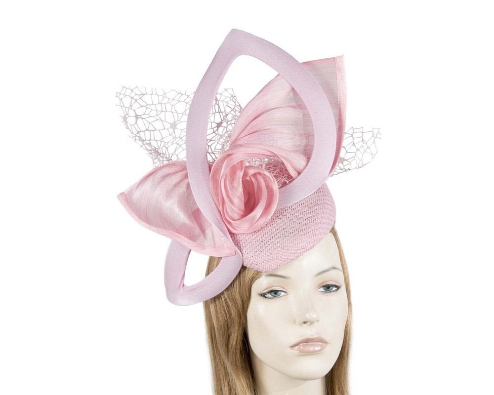 Bespoke sculptured pink fascinator