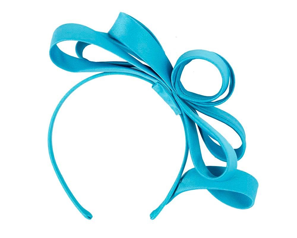 Blue bow racing fascinator by Max Alexander