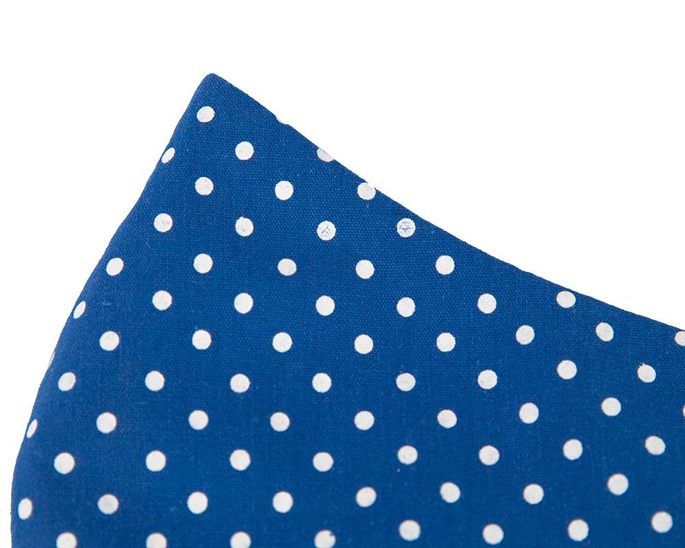 Comfortable re-usable blue polka dots cotton face mask