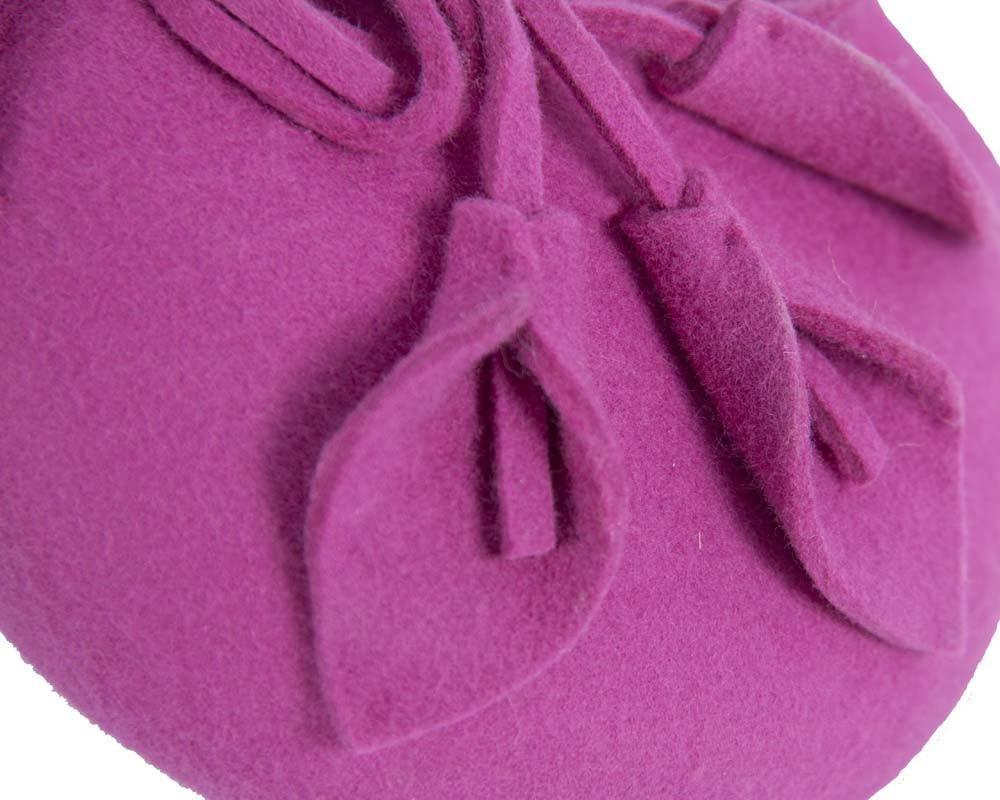 Small fuchsia winter pillbox Max Alexander buy online in Aus J297F