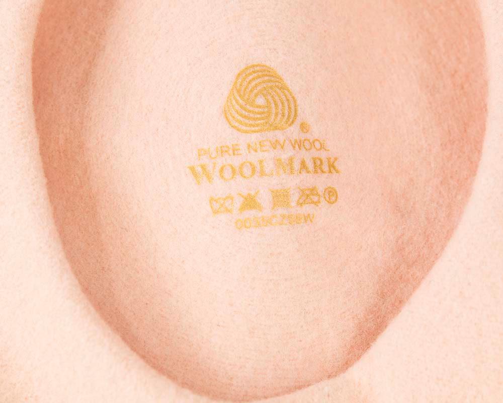 Peach wool WOOLMARK french beret