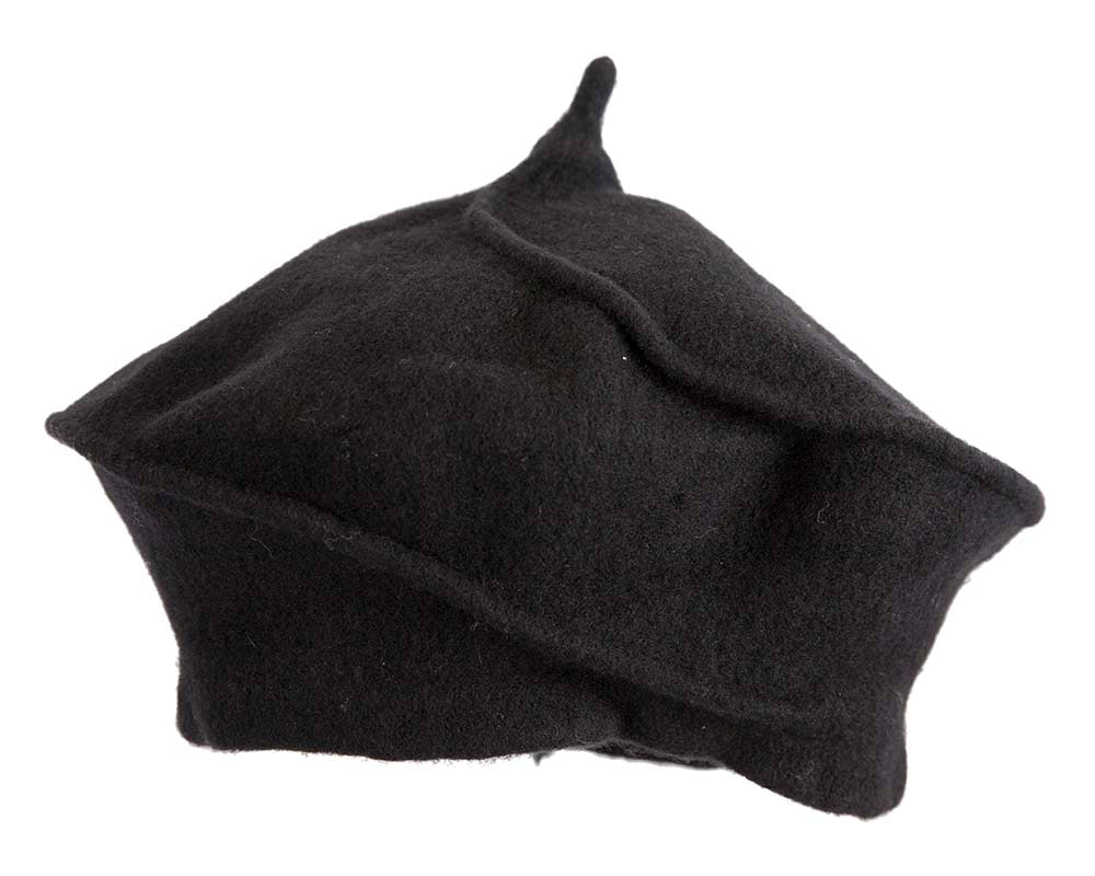 Stylish black winter french beret by Max Alexander