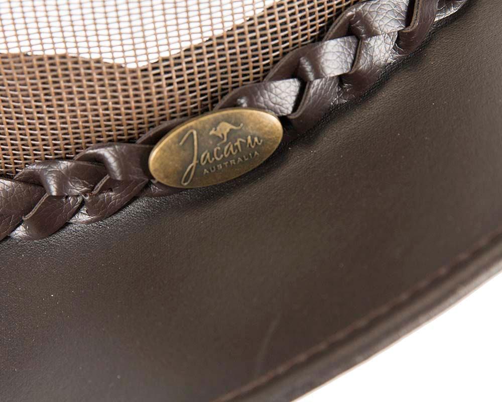 Brown Australian Bovine Leather Cooler Jacaru Hat